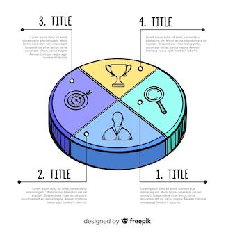 Минималистский рисованной инфографики шаги