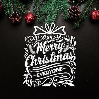 レタリングとクリスマスコンセプト