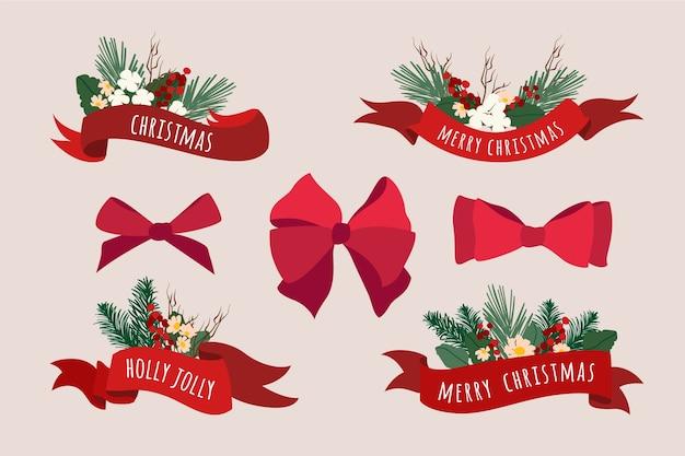Ручной обращается рождественские ленты коллекции