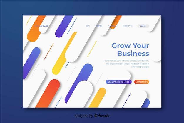 Развивайте свой бизнес геометрическую целевую страницу
