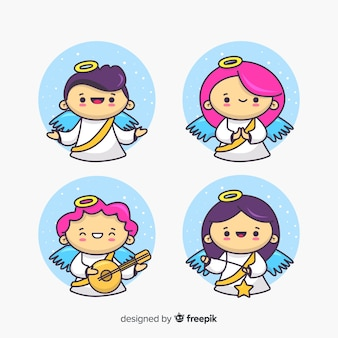 手描きの翼を持つクリスマスの天使