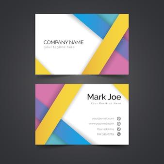 Абстрактный дизайн красочный шаблон визитной карточки