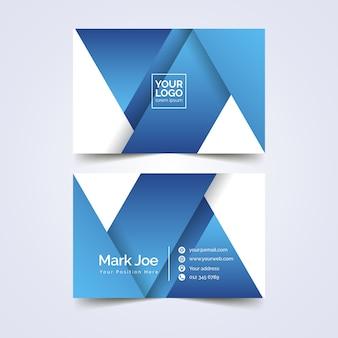 Шаблон визитной карточки абстрактный дизайн