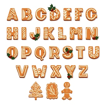 ジンジャーブレッドクリスマスアルファベット