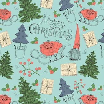 ビンテージクリスマスパターン