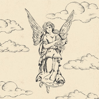 Старинный рождественский ангел
