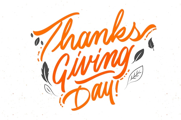 С днем благодарения концепция с буквами