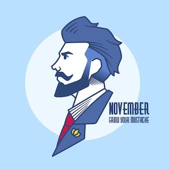 Ноябрьская концепция в плоском дизайне