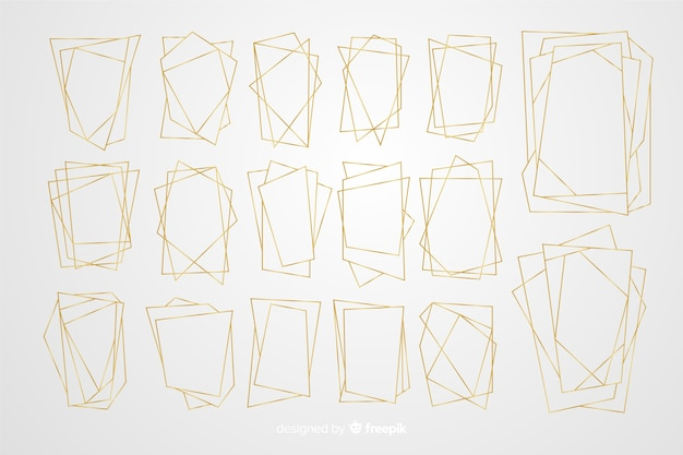 多角形のゴールデンフレームコレクション