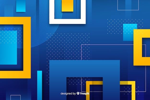 幾何学的図形のグラデーションの背景