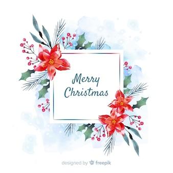 Акварель новогоднее украшение с приветствием