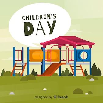 Плоский дизайн для иллюстрации дня детей