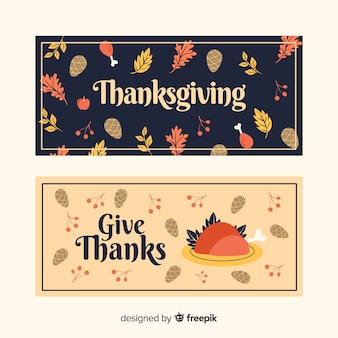 Ручной обращается шаблон благодарения баннеры
