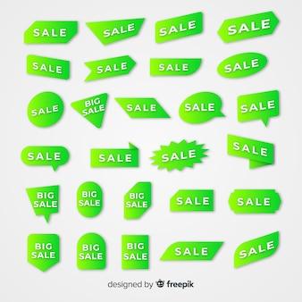 Коллекция градиента продаж этикетки