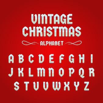 Старинный рождественский алфавит