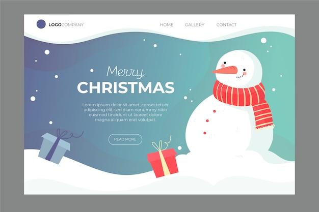 Нарисованная от руки рождественская целевая страница