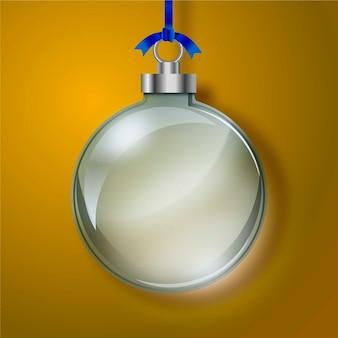 Кристально прозрачный новогодний шар