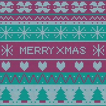 Вязаный рождественский узор фона