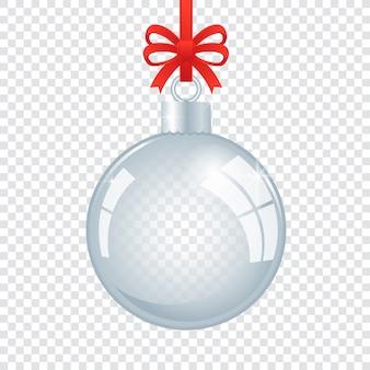 Хрустальный елочный шар