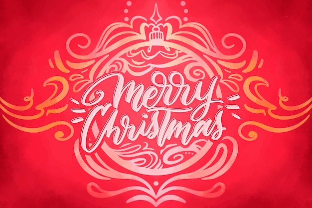 水彩のお祝いクリスマスの背景