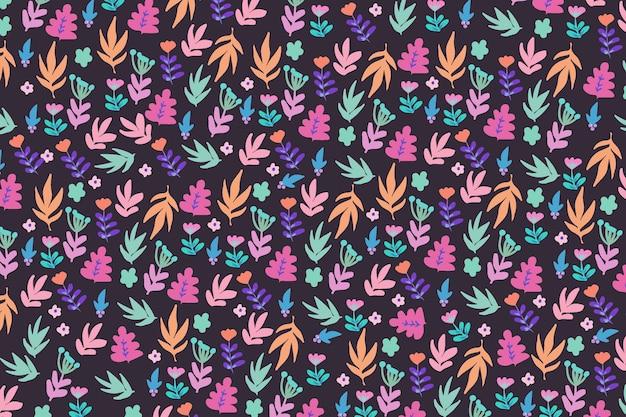 トレンディな花柄の壁紙