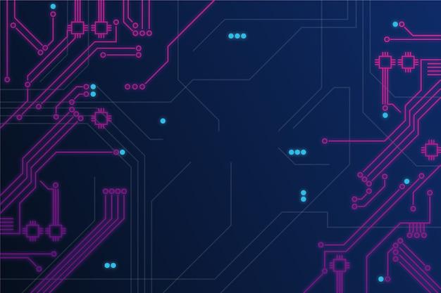 ネオン回路基板の背景