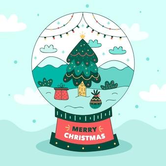 Рисованной рождественский снежный шар обои