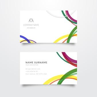 Минималистский красочный шаблон визитной карточки