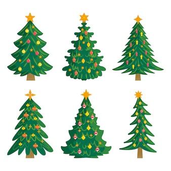 手描きのクリスマスツリーパック