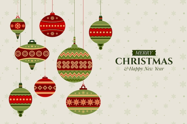 装飾クリスマスの背景