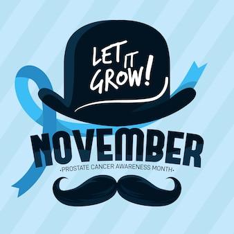 Плоский дизайн ноябрь пусть растет фон