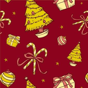 Старинный рождественский узор