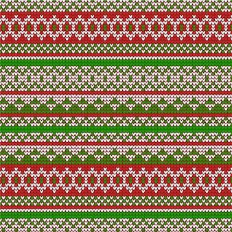 Вязаный рождественский узор