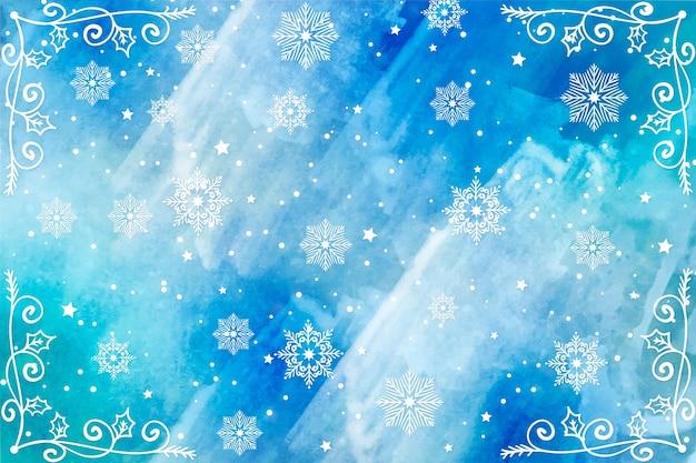 Рождественский фон в акварели