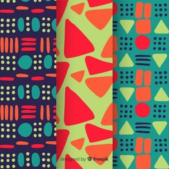 抽象的なパターンパック手描き