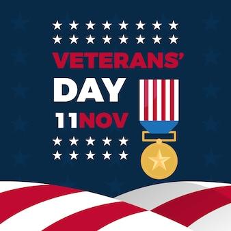 День ветеранов плоский дизайн обоев