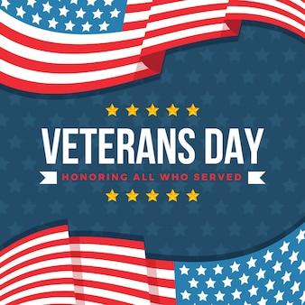 Плоский дизайн ветеранов день фон