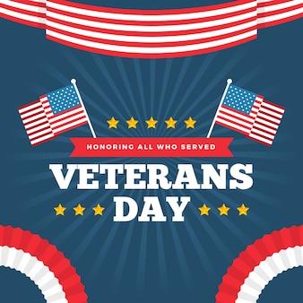フラットなデザインの退役軍人の日の壁紙