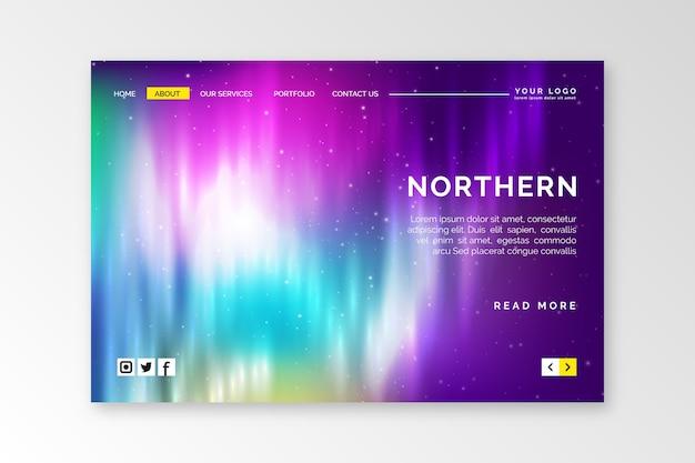 Шаблон целевой страницы северного сияния