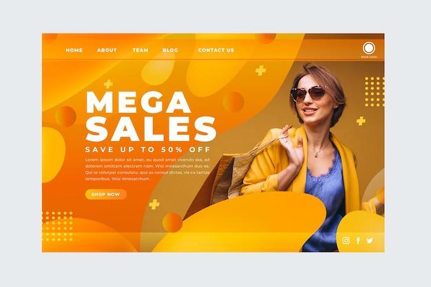 画像付きの販売概要ランディングページ