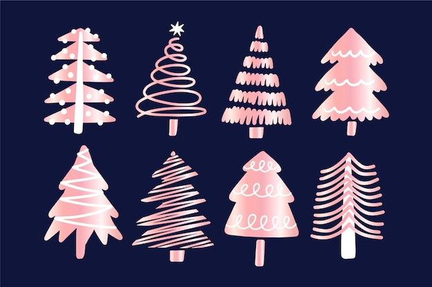 クリスマスツリーコレクション手描き