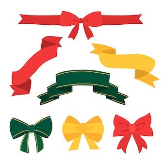 Ручной обращается коллекция рождественская лента