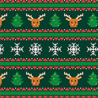 クリスマスニットパターン