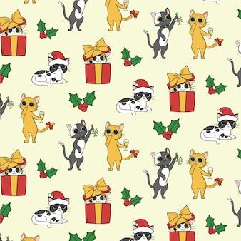 Рождественский забавный узор