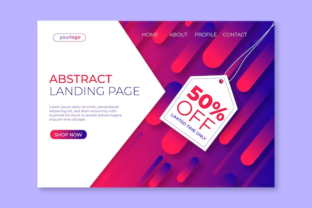 Абстрактный шаблон целевой страницы продаж
