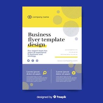 Абстрактный бизнес флаер шаблон дизайна