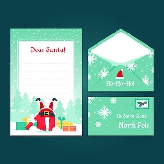 Плоский дизайн рождественские бланки шаблон