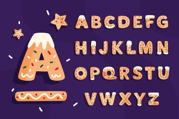 Пряничный рождественский алфавит