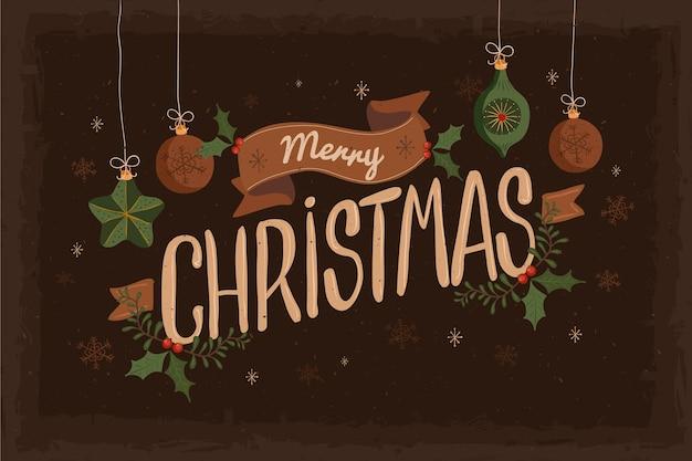 ヴィンテージの装飾クリスマスの背景