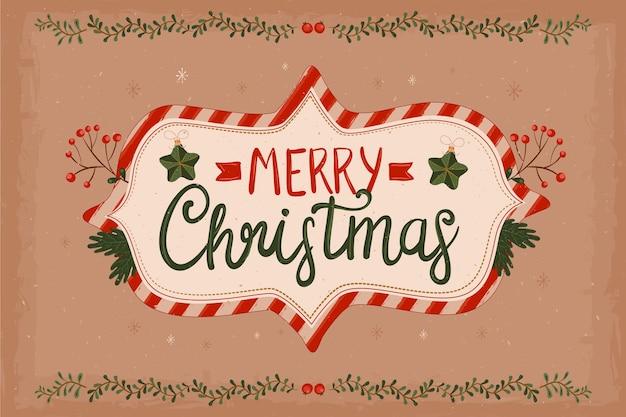 ヴィンテージの装飾クリスマスの壁紙